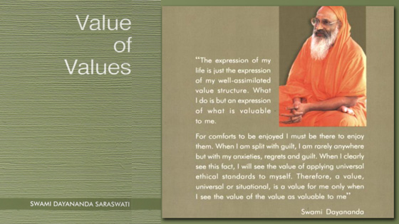 Value of Values - by Swami Dayananda Saraswati